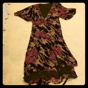 Zara Women's velvet wrap dress